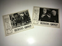 HEAVENS ABOVE Lobby Card Movie Posters 1963 Peter Sellers UK Boulting Comedy