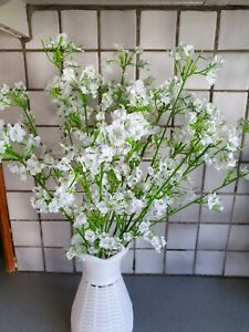 Joblot of 100 pcs white colour Gypsophila Silk Artificial Flowers new wholesale