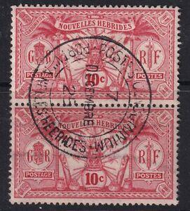 New Hebrides 1911  SGF12 pair  Fine Used