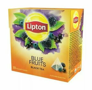 Lipton Blue Fruit Teabags 4 Boxes Of 20 (80) Free UK Delivery