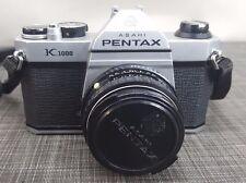 Asahi Pentax K1000 35mm SLR Film Camera w/ smc Pentax 50mm 1:2 Lens