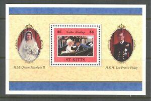 ST KITTS 1997, QUEEN ELIZABETH WEDDING ANNIVERSARY, Sc 429, SOUVENIR SHEET, MNH