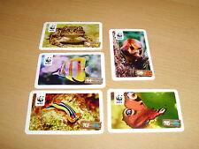 Fünf WWF Sammelsticker