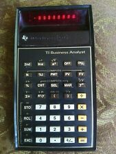 TI Business Analyst Red LED Calculator