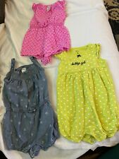 3 Piece Set Of Baby Girl Romper Outfits