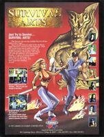 Survival Arts Arcade FLYER Original NOS 1993 SAMMY Video Game Martial Arts Theme