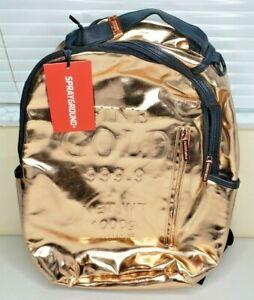 Sprayground Rose Fine Gold Brick Money Urban School Book Bag Backpack