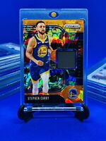 Stephen Curry•Panini Prizm Card•Orange Cracked Ice•1 Jersey Patch•Rare•Pop•Relic