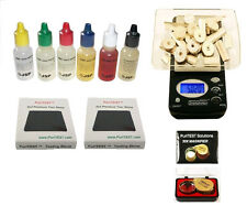 GOLD/SILVER COIN TEST KIT Precious Metals Purity Testing Set  Acid 1000g Scale