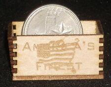 Dollhouse Miniature America's Finest Produce Crate 1:12 Food Market America