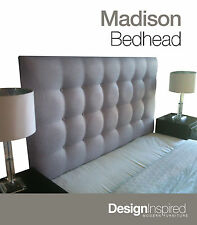 MADISON DELUXE Upholstered Bedhead for Double Ensemble - Ash