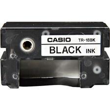 Casio TR-18BK Black Thermal Ink Ribbon TR18BK for CW50, CW75, CW100, CW-l300