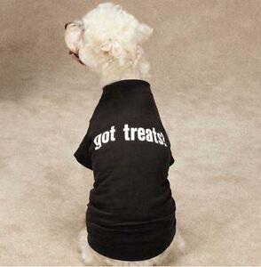 Got Treats Dog T-Shirt Tee Black Zack & Zoey Top Pet  XXS - XL Black Tees