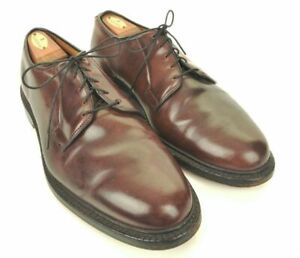 ALLEN EDMONDS Leeds Burgundy SHELL CORDOVAN Blucher Derby PTB Shoes - 10.5 EEE