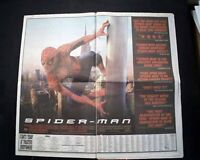Best SPIDER-MAN Superhero Film Movie Opening Day AD Review 2002 L.A. Newspaper