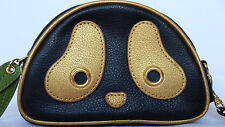 Morn Creations Panda Ramo Black Gold Cosmetic Bag Pouch Clutch