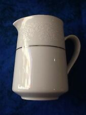 Noritake Tahoe  Contemporary creamer White With Raised Floral Design Fine china