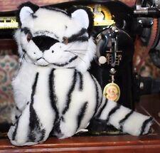 "7"" small King Pizzazz Plush White Tiger Stuffed Animal"