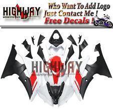 ABS Fairings For Yamaha YZF 600 R6 08-15 R6 White Red Black Fairing Bodywork Kit
