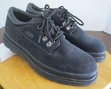 Men's sz 9 M black LeHigh steel toe all terrain lace tie work shoes