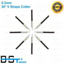 10pcs PCB Engraving Bits 30 Degree 0.3mm Carbide  CNC Router Tool 3.175mm shank