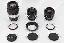 Nikon Nikkor Ai 50mm F1.4, Ai 24mm F1.8, Ai-Q.C Auto 135mm F2.8, 3 Lens, TK0335