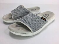Teva Women's Terra Float 2 Knit Slide Sandal Size 7 White Gray
