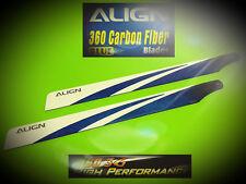 360mm Carbon Hauptrotorblätter, blau für T-REX 450 Serie Nr.: HD360B v. Align