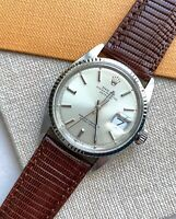 20mm Genuine Lizard Brown Leather Watch Strap Band Made For Rolex Datejust