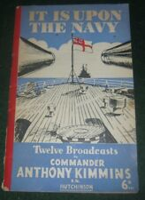 It Is Upon the Navy Anthony Kimmins World War 2 Two II Taranto Lofoten Islands