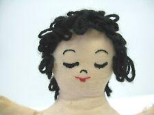 Vintage Antique Cloth Doll Stand Handmade Stuffed Unusual