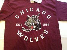 NWT Chicago Wolves AHL Hockey Maroon Gildan T-shirt SZ M - Cool