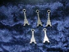 5 Anhänger Eifelturm Metallanhänger für Armband oder Kette Charm
