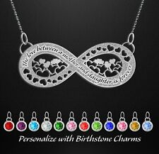 Mothers Day Personalized Birthstone Jewelry Infinity Mother Daughter Necklace