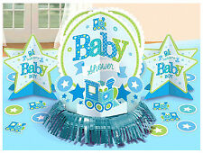 Boy Welcome Little One Baby Boy Shower Table Decorating Kit Party Supplies ~23pc