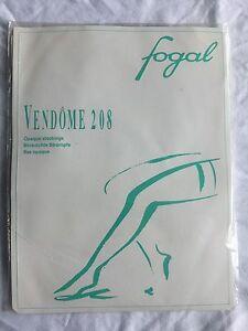 Fogal - Vintage but Unworn - Vendome Opaque Stockings -  Black - Size Large