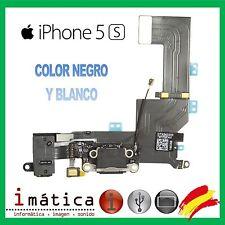 CONECTOR CARGA IPHONE 5S COLOR NEGRO BLANCO FLEX POWER JACK AURICULAR MICROFONO
