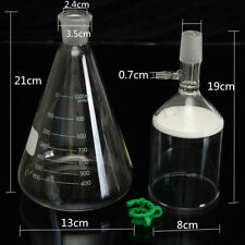 Glass Suction Filter 250ml Buchner Funnel + 1000ml  Litre Erlenmeyer Flask Kit