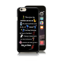 Disney Lessons Quotes Stitch Peter Pan Lion King Case Cover for iPhone Models