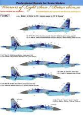 Foxbot Decals 1/48 SUKHOI Su-27S FLANKER Ukrainian Digital Camouflage NUMBERS