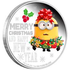 Niue - 2 Dollar 2019 - Minions™ - Season's Greetings - 1 Oz Silber PP