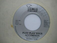 RARE SIGNED 45 RPM vinyl record CLEANED & PLAYS NM- Cleveland POLKA Rodney Yemc