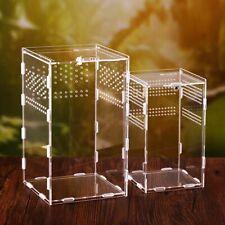 Acrylic Transparent Assembled Reptile Breeding Box Insect Terrarium Breathable x