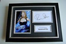 Rosamund Pike SIGNED A4 FRAMED Photo Autograph Display James Bond Film & COA