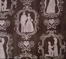 I Do BTY Dan Morris Quilting Treasures Wedding Bride Groom Silhouettes Black