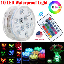 10 LED submersible Multi Color Waterproof Wedding Party Vase Base Light  Remote