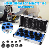 10pcs Hex Nut Remover Extractor Set Extraction Tool Threading Tools Kit