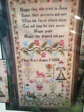 The Scarlett House MARY ROE 1808  Counted Cross Stitch Chart