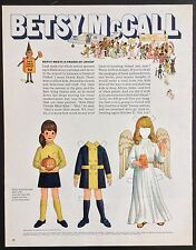 Vintage Betsy McCall Mag. Paper Doll, Betsy Meets a Friend of Unicef, Oct. 1968