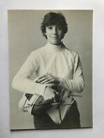 Autogramm CORNELIA HANISCH-Fechten-70er-Olympia 1984-Weltmeisterin-Frankfurt-AK5
